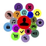 Iconos e insignias del vector Imagen de archivo