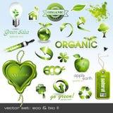 Iconos: eco y bio II Imagen de archivo libre de regalías