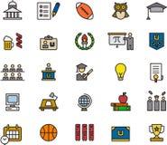 Iconos educativos Imágenes de archivo libres de regalías
