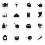 Iconos el cocinar y de la cocina Imagen de archivo libre de regalías