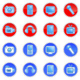 Iconos electrónicos Imagenes de archivo