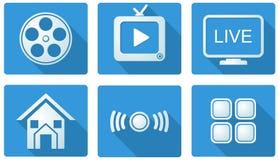 Iconos elegantes de la TV ilustración del vector