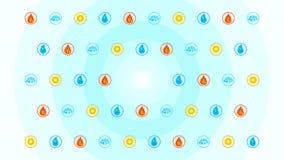Iconos elementales ilustración del vector