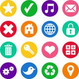 Iconos en círculos Imagen de archivo libre de regalías