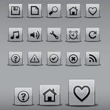 Iconos en dimensiones de una variable cuadradas Imágenes de archivo libres de regalías