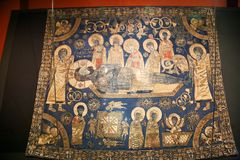 Iconos en el Museo Nacional georgiano - Tbilisi Foto de archivo