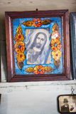 Iconos en el templo viejo Foto de archivo libre de regalías