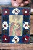 Iconos en el templo viejo Foto de archivo