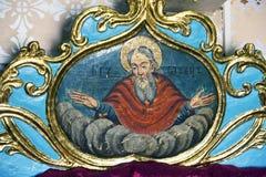 Iconos en el templo viejo Fotografía de archivo libre de regalías