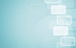 Iconos en fondo social del azul de la red. Fotografía de archivo