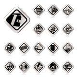 Iconos en línea simples del departamento, del comercio electrónico y del Web site ilustración del vector
