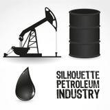 Iconos en la industria de petróleo Foto de archivo libre de regalías