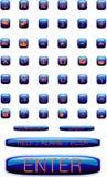 Iconos en los botones brillantes Fotografía de archivo libre de regalías