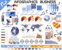 Iconos EPS10 del negocio de Infographics Foto de archivo libre de regalías