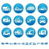 Iconos especiales del transporte Stock de ilustración