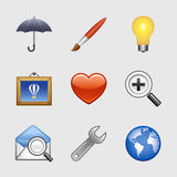 Iconos estilizados del Web, conjunto 09 Foto de archivo