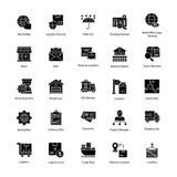Iconos estimulantes de la entrega de la logística Imagen de archivo