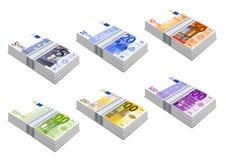 Iconos euro Imagen de archivo libre de regalías