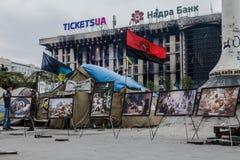 Iconos. Euromaidan, Kyiv después de la protesta 10.04.2014 Fotografía de archivo