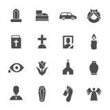 Iconos fúnebres de las mercancías Ilustración del vector ilustración del vector