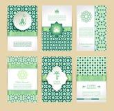 Iconos felices del Ramadán fijados de árabe