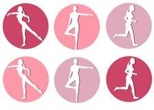 Iconos femeninos de la silueta de la aptitud