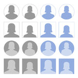Iconos femeninos del perfil Imagenes de archivo