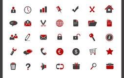 Iconos fijados Imágenes de archivo libres de regalías