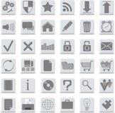 Iconos fijados Fotografía de archivo libre de regalías