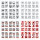 Iconos fijados Imagen de archivo