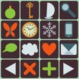 Iconos fijados Imagen de archivo libre de regalías