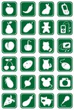 Iconos fijados Fotos de archivo
