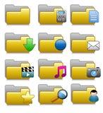 Iconos fijados - carpetas de las aplicaciones informáticas Imagenes de archivo