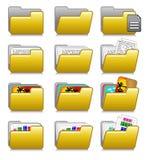 Iconos fijados - carpetas de las aplicaciones informáticas Fotos de archivo libres de regalías