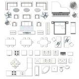 Iconos fijados de interior ilustración del vector