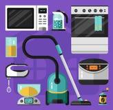 Iconos fijados del aparato electrodoméstico Fotografía de archivo libre de regalías