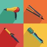 Iconos fijados del pelo que diseña iconos de las herramientas Fotografía de archivo