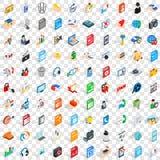 100 iconos fijados, del webdesign estilo isométrico 3d Fotografía de archivo