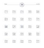 Iconos fijados, ejemplo de la carpeta del vector Imagen de archivo