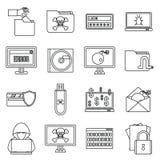 Iconos fijados, estilo de la actividad criminal del esquema libre illustration
