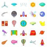 Iconos fijados, estilo de la navegación de la historieta Foto de archivo libre de regalías