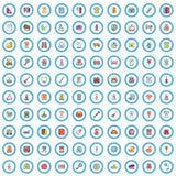 100 iconos fijados, estilo de las mercancías de los niños de la historieta stock de ilustración