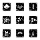 Iconos fijados, estilo de Paintball del equipo del grunge Imagenes de archivo