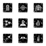 Iconos fijados, estilo de Paintball del grunge Imagen de archivo libre de regalías