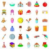 Iconos fijados, estilo del ABC de la historieta Foto de archivo libre de regalías