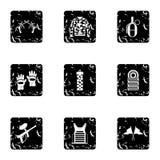 Iconos fijados, estilo del club de Paintball del grunge Imagen de archivo