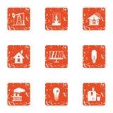 Iconos fijados, estilo del Pep del grunge libre illustration
