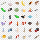 Iconos fijados, estilo isométrico de la cultura del mundo libre illustration