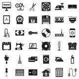 Iconos fijados, estilo simple de Houseworking Fotos de archivo libres de regalías