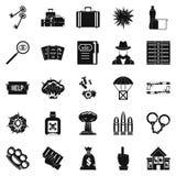 Iconos fijados, estilo simple de la culpa stock de ilustración